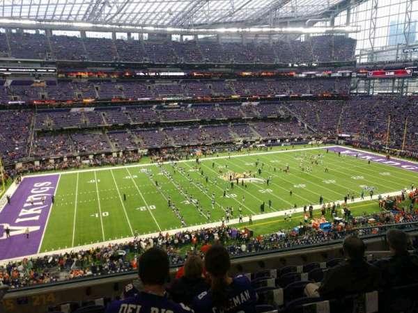 U.S. Bank Stadium, secção: 214, fila: 7, lugar: 10