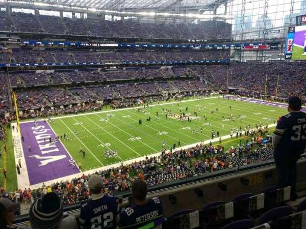 U.S. Bank Stadium, secção: 216, fila: 4, lugar: 4