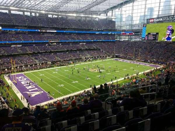 U.S. Bank Stadium, secção: 217, fila: 10, lugar: 8