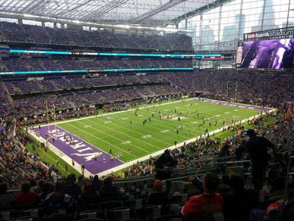 U.S. Bank Stadium, secção: 218, fila: 11, lugar: 7