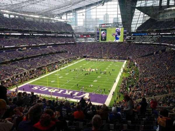 U.S. Bank Stadium, secção: 221, fila: 14, lugar: 12