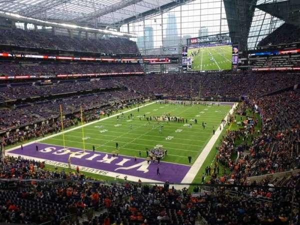 U.S. Bank Stadium, secção: 221, fila: 1, lugar: 1