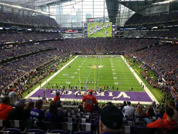 U.S. Bank Stadium, secção: 223, fila: 10, lugar: 9