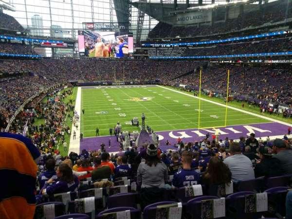 U.S. Bank Stadium, secção: 121, fila: 35, lugar: 22