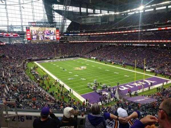U.S. Bank Stadium, secção: 225, fila: 4, lugar: 6