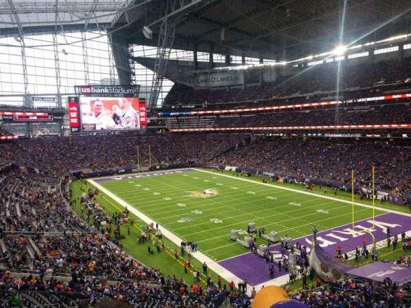 U.S. Bank Stadium, secção: 226, fila: 3, lugar: 1