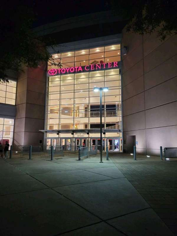 Toyota Center, secção: Jackson Street Entrance