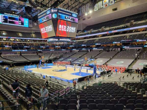 American Airlines Center, secção: 103, fila: V, lugar: 10
