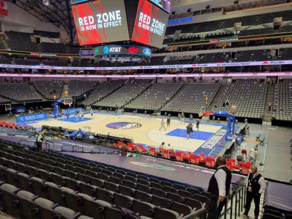 American Airlines Center, secção: 116, fila: V, lugar: 19