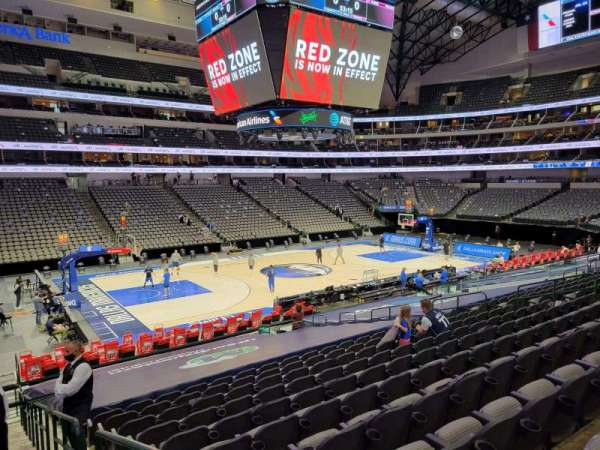 American Airlines Center, secção: 121, fila: V, lugar: 1