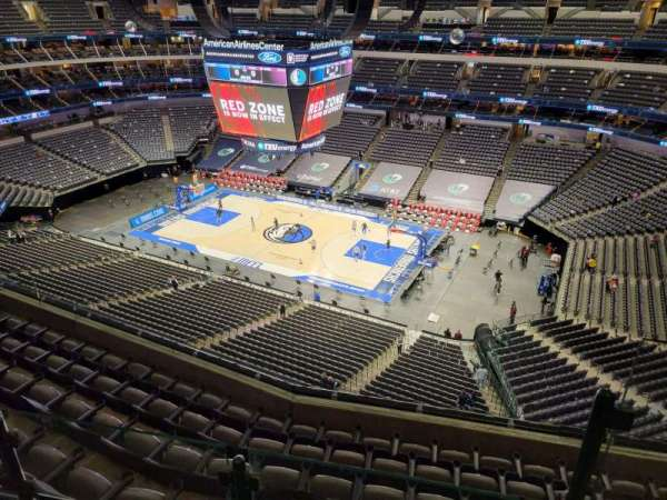 American Airlines Center, secção: 307, fila: G, lugar: 1