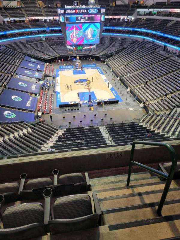 American Airlines Center, secção: 319, fila: D, lugar: 1