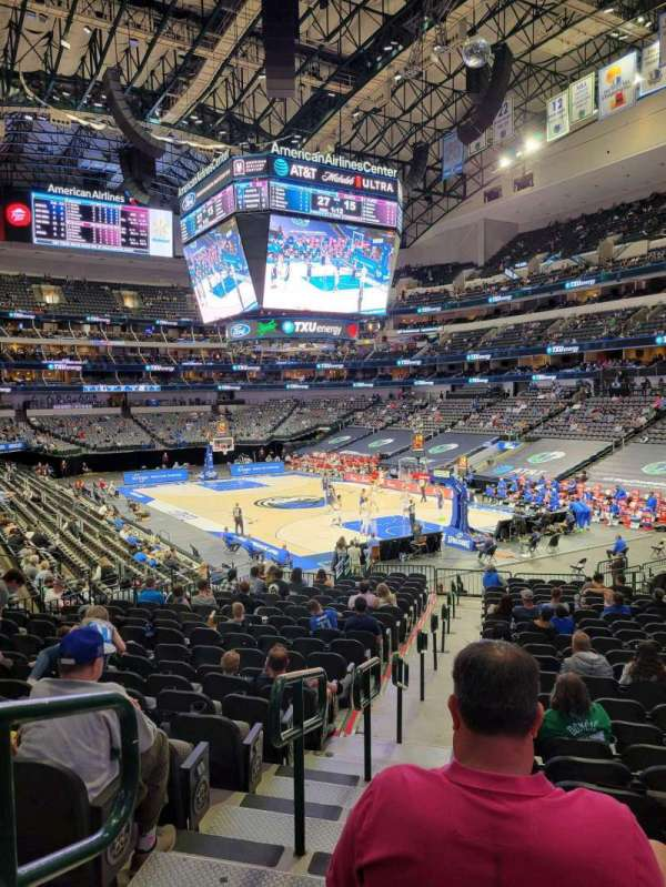 American Airlines Center, secção: 102, fila: W, lugar: 22