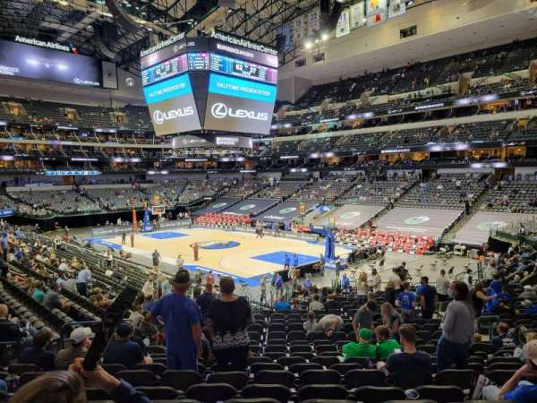 American Airlines Center, secção: 102, fila: Y, lugar: 10