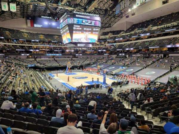 American Airlines Center, secção: 102, fila: ZZ, lugar: 1