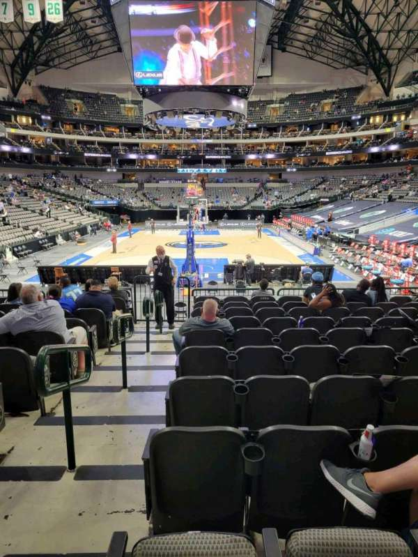 American Airlines Center, secção: 124, fila: L, lugar: 1