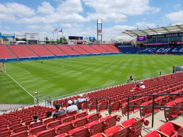 Toyota Stadium, secção: 101, fila: 17, lugar: 10