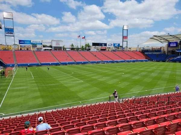 Toyota Stadium, secção: 102, fila: 16, lugar: 10