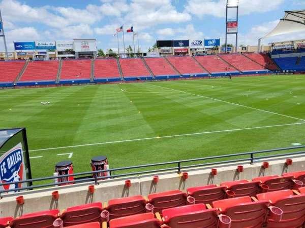 Toyota Stadium, secção: 105, fila: 5, lugar: 10