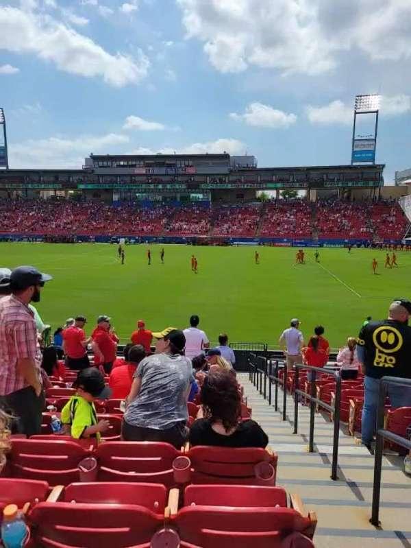 Toyota Stadium, secção: 129, fila: 16, lugar: 23