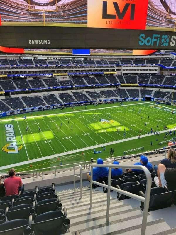 SoFi Stadium, secção: 344, fila: 7, lugar: 1