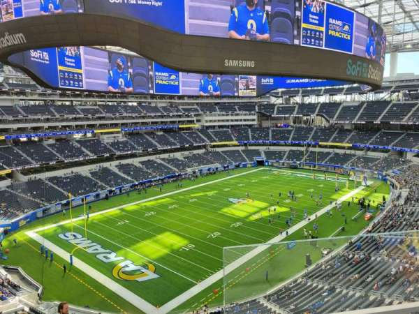SoFi Stadium, secção: 341, fila: 2, lugar: 1