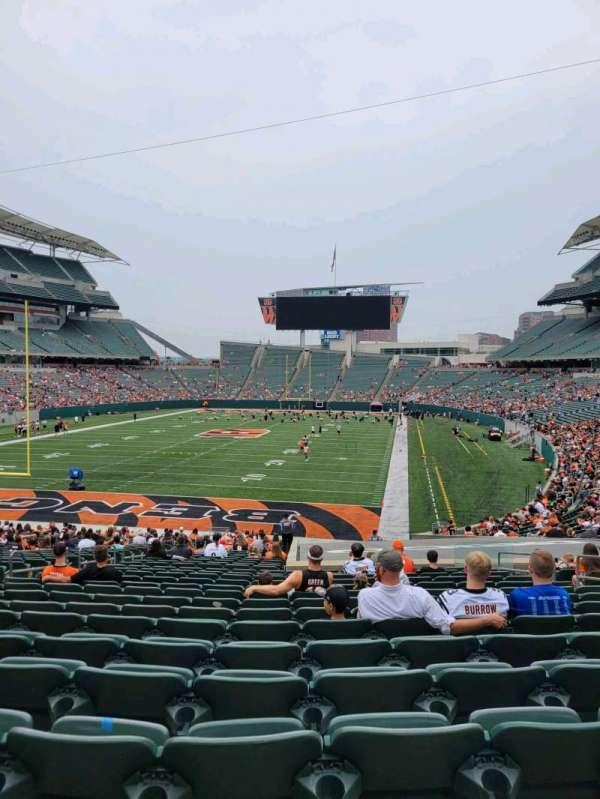Paul Brown Stadium, secção: 122, fila: 32, lugar: 10