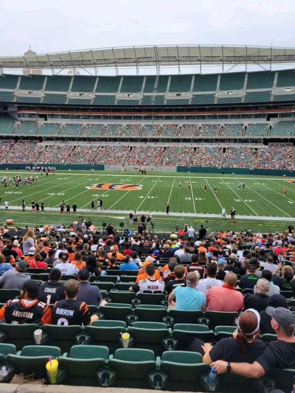 Paul Brown Stadium, secção: 109, fila: 32w, lugar: 8