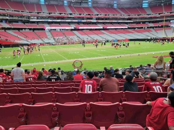 State Farm Stadium, secção: 135, fila: 13, lugar: 8