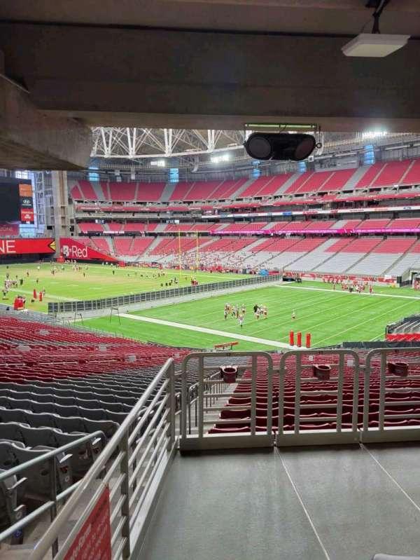 State Farm Stadium, secção: 124, fila: 41, lugar: 12