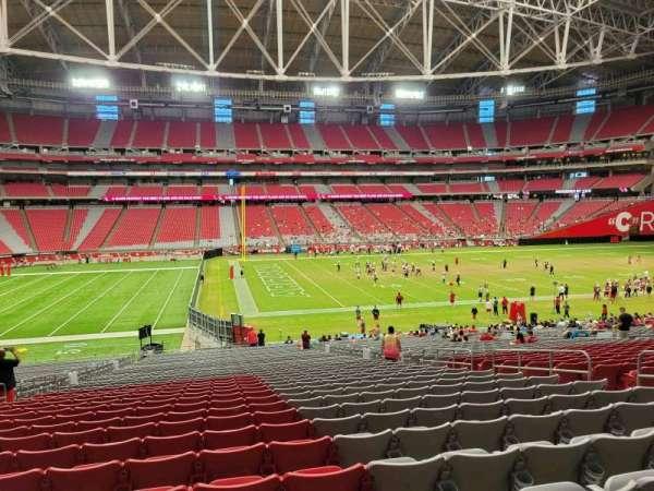 State Farm Stadium, secção: 110, fila: 39, lugar: 10