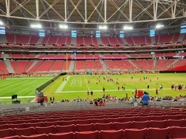 State Farm Stadium, secção: 109, fila: 34, lugar: 10