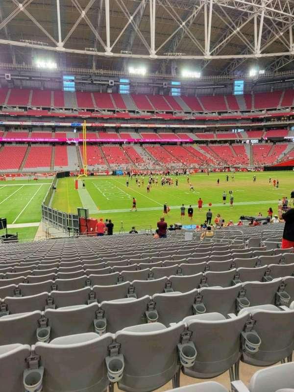 State Farm Stadium, secção: 110, fila: 25, lugar: 10