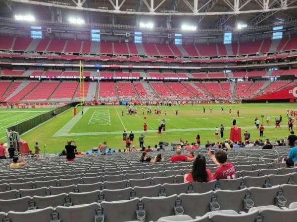 State Farm Stadium, secção: 109, fila: 23, lugar: 10