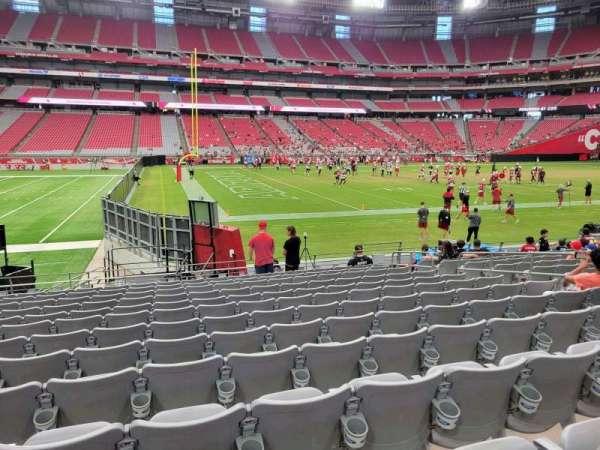 State Farm Stadium, secção: 110, fila: 13, lugar: 10