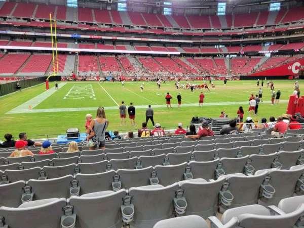 State Farm Stadium, secção: 109, fila: 11, lugar: 11