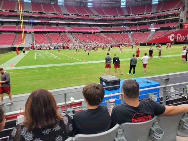State Farm Stadium, secção: 109, fila: 3, lugar: 17