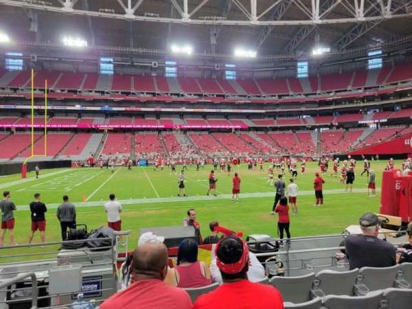 State Farm Stadium, secção: 108, fila: 5, lugar: 18