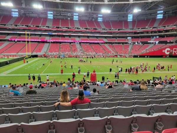 State Farm Stadium, secção: 108, fila: 25, lugar: 12