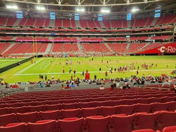 State Farm Stadium, secção: 108, fila: 35, lugar: 11