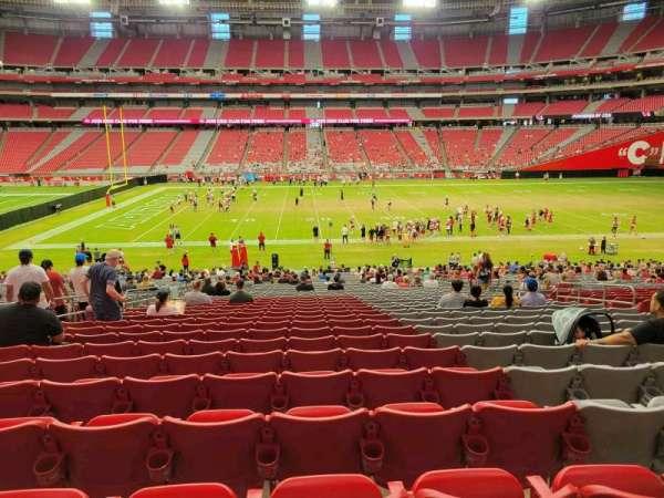 State Farm Stadium, secção: 107, fila: 37, lugar: 11