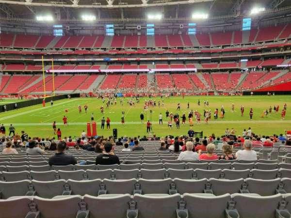 State Farm Stadium, secção: 107, fila: 24, lugar: 7