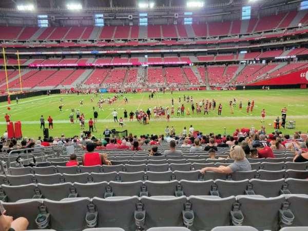 State Farm Stadium, secção: 106, fila: 22, lugar: 12