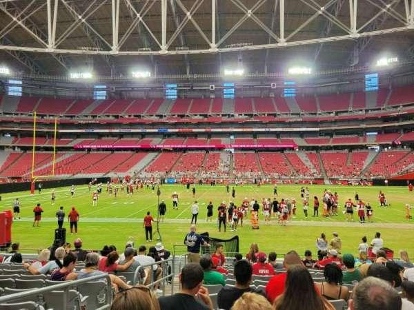 State Farm Stadium, secção: 106, fila: 12, lugar: 17