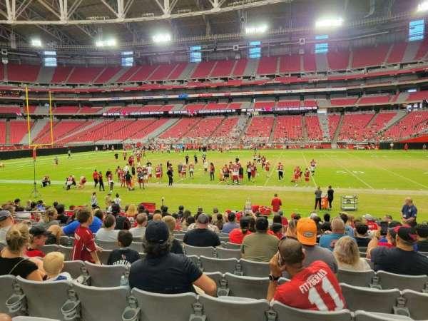 State Farm Stadium, secção: 105, fila: 15, lugar: 6