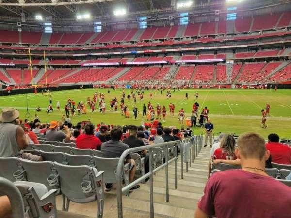 State Farm Stadium, secção: 104, fila: 17, lugar: 17