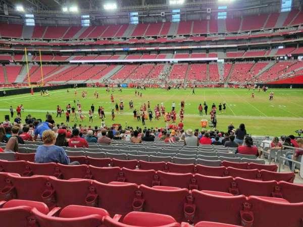 State Farm Stadium, secção: 105, fila: 24, lugar: 3