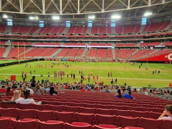 State Farm Stadium, secção: 105, fila: 36, lugar: 9