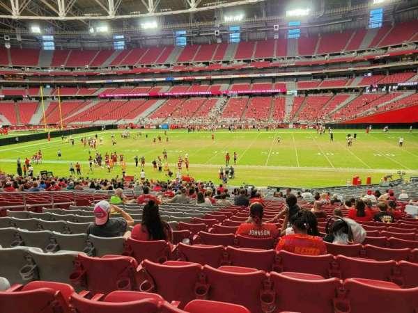 State Farm Stadium, secção: 104, fila: 33, lugar: 13