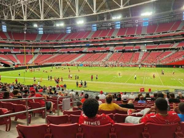 State Farm Stadium, secção: 103, fila: 25, lugar: 25